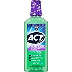 ACT Total Care Fresh Mint Anticavity Fluoride Mouthwash, 18 oz