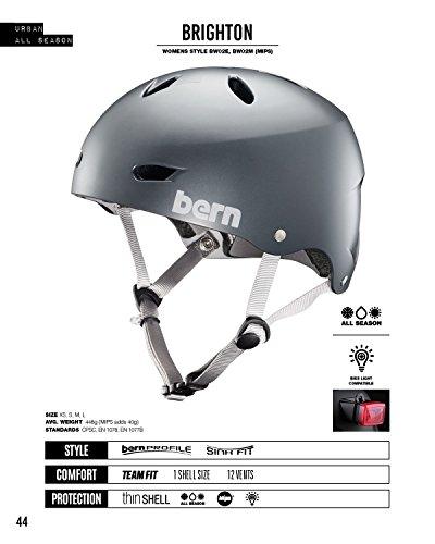 Bern Erwachsene Helm Helm Brighton EPS satingrau, Größe L, BW02ESGRY03, Grau, L (57-59 cm), BW02ESGRY03