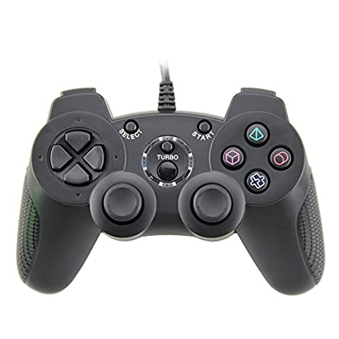 Wired Controller Doppelte Vibration Gamepad für Playstation 2 PS2 (Support