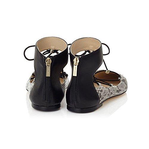 Kolnoo Chaussures Femme Confort Ballerines Pour Femmes Grandes Pointures du Taille 35-45 Python