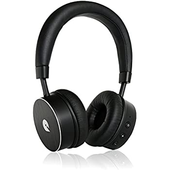 Wireless Bluetooth Headphones with Built in Mic - Wireless Headphones from iQualTech (Black)
