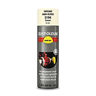 RUST-OLEUM 2194 Hard Hat Topcoat Ral-Colours, The Nr. 1 Industrial Paint Aerosol. Go Further, Work Faster, Last Longer!, Cream-RAL 9001