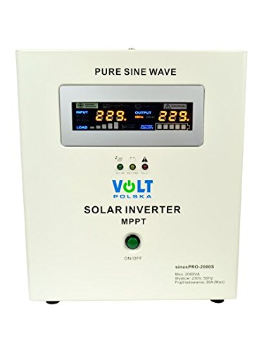 Off - Griglia sinusoidale pura energia solare Inverter-Charger sinuspro-2000s 24 V/230 V MPPT
