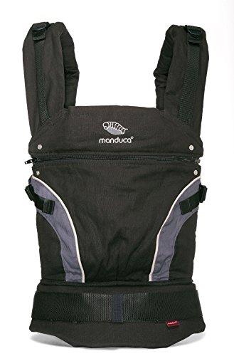 Manduca Babytrage 222-02-60-000, Bauch-, Rücken- und Hüfttrage, schwarz - 2