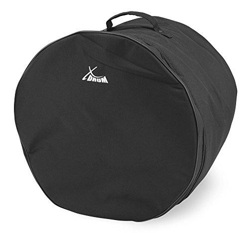 """XDrum Classic Drumbag, Schlagzeugtasche für Floor Tom Größe 16""""x16"""" (Durchmesser: 16"""", Tiefe: 16"""", wasserabweisend, Innenpolsterung, stabiler Tragegriff) Schwarz"""