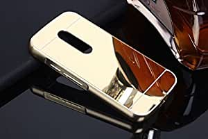 Ae Mobile Accessories Luxury Metal Bumper + Acrylic Mirror Back Cover Case Motorola Moto G4 Plus Gold Plated