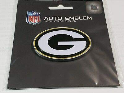 Green Bay Packers WinCraft NFL Acryl Metallic 3D Auto Emblem Aufkleber in 8 x 8 cm (Packers-aufkleber Bay Green)