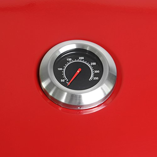 Charles Bentley 3 Burner Hooded Gas Barbecue - Red