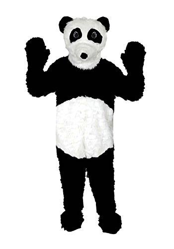 Panda Fell Kostüm Einheitsgrösse XXL Fasching Karneval Fastnacht (Panda Maskottchen Kostüm Für Erwachsene)