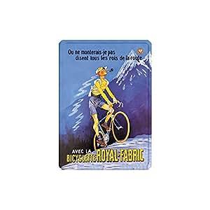 Éditions Clouet 29176 Tableau d'Affichage Bicyclette Royal Fabric CP Métal 15 x 21 cm