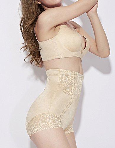 CRAVOG Damen Shapewear Abnehmen Schwarz Nude Fett weg Bauchweg Bodyshaper Figurformende Miederslip Nude