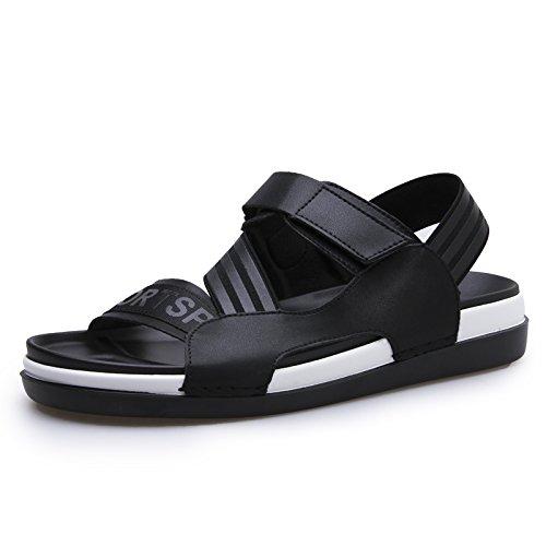 sandali degli uomini, cuoio, scarpe da spiaggia d'estate, i sandali degli uomini casuali, il nero, US7 / EU39 / UK6 / CN39 US10/EU43/UK9/CN44