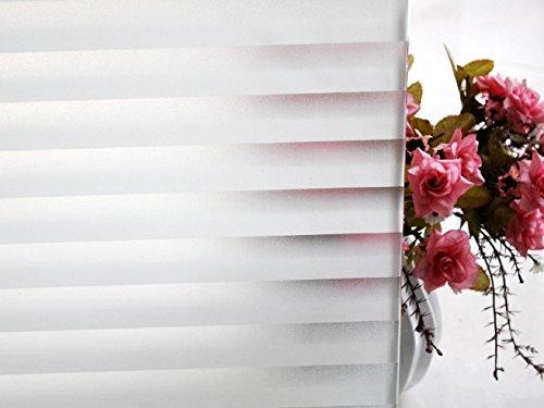 """Tamia-Home Statische Fensterfolie 90% UV-Sonnenschutz Selbsthaftende Sichtschutzfolie Glasdekor""""Jalousie"""" P040 (60x100cm)"""