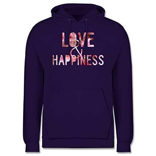 Statement Shirts - Love & Happiness Pink - Männer Premium Kapuzenpullover / Hoodie Lila