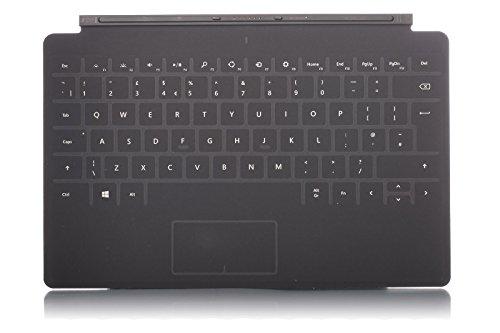 Microsoft Touch Cover 2 für Surface, Surface 2, Surface Pro, Surface Pro 2, QWERTY-Tastaturlayout UK, Schwarz / Anthrazit (Tastatur 2 Surface)