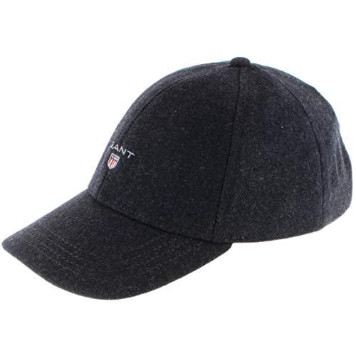 GANT Herren D2. Melton Baseball Cap, Blau (Antracit Melange 95), One Size...