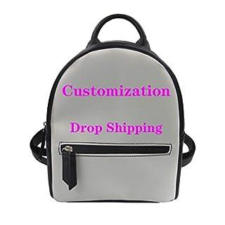 Milkate Women PU Leather Backpack Cartoon Knitting Lover Design Customized