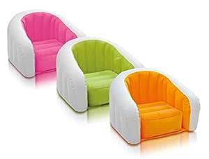 Intex Inflatable Air PVC Junior Cafe Club Chair, Multi Color
