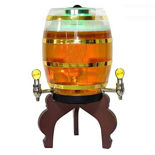 ACZZ Dispensador de cerveza 8L Dispensador de bebidas con luces LED y tubo de hielo extraíble, perfecto para la barra de fiesta