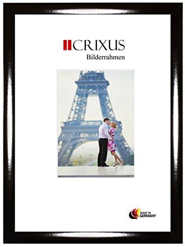 CRIXUS Crixus35 Bilderrahmen für 14 cm x 19 cm Bilder, Farbe: Schwarz Hochglanz, Holzrahmen MDF mit entspiegeltem Acrylglas, Rahmen Breite: 35mm, Aussenmaß: 19,8 x 24,8 cm (Foto-rahmen 19x14)