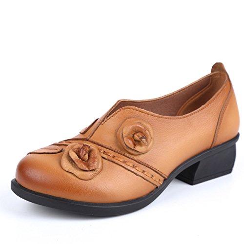 Socofy Mocasines Zapatos De Mujer De Cuero Mujer Zapatos De Ballet Mocasines Zapatos Casuales Mujer...