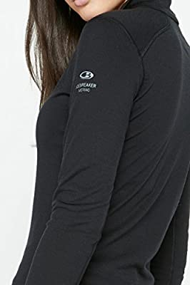 Icebreaker Damen Shirt Unterhemd Langarm Rollkragen Oasis Longsleeve Half Zip