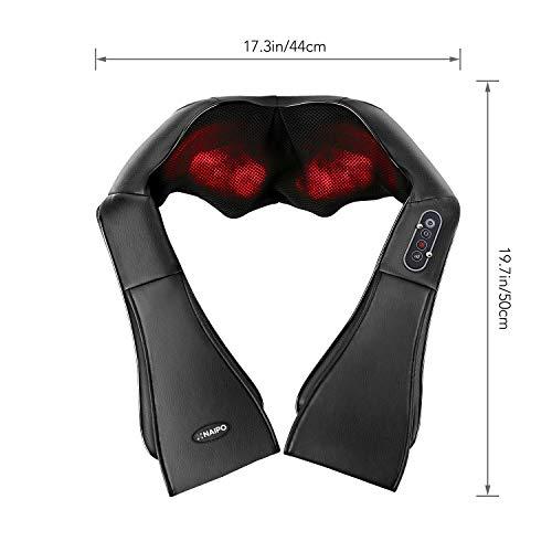 Naipo Shiatsu Nacken Schulter Massage Wärme 3D-Rotation Masseur - 7