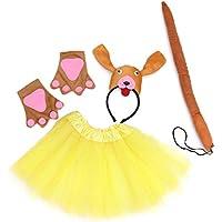 Amosfun Disfraz de Princesa de Hadas para niña Disfraz de Princesa de Escenario para niños Conjunto