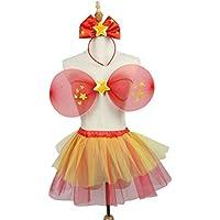 BESTOYARD 3pcs Mädchen Fairy Star Prinzessin Kostüm Set Fairy Wings Tutu Rock und Bowknot Stirnband