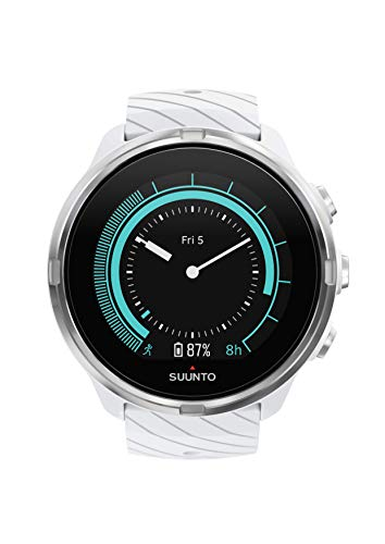 Suunto 9 GPS Sports Watch with Long Battery Life, Non-Barometer, White
