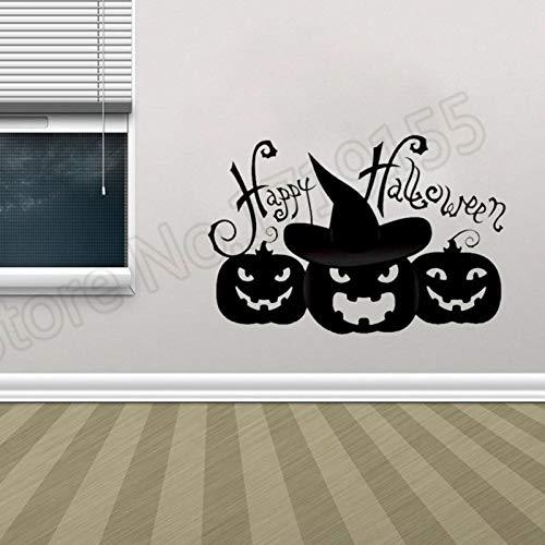 zhuziji Halloween Kürbis Wandaufkleber Wasserdicht Aufkleber Art Vinyl Aufkleber Halloween Party Wandtattoos Dekoration Wandaufkleber 57x38cm (Halloween-kürbisse Australien In)