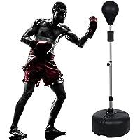 Ncient Punchingball mit Ständer Verstellbar Höhe 144 - 156cm Standbox-Trainer Punching Stand Standboxball