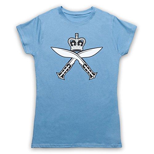 Gurkha Regimental Insignia Badge Logo Damen T-Shirt Hellblau