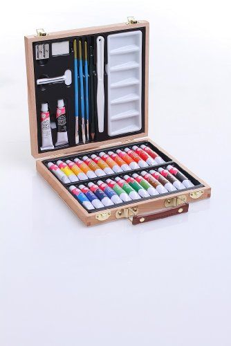 mallette-dartiste-en-bois-35-pieces