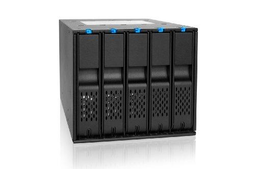 "ICY DOCK MB975SP-B R1SATA Hot Swap Wechselrahmen für 5x 3,5\"" (8,9cm) HDDs in 3x 5,25 Zoll (13,3cm)"