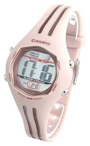 Camps - 40047B - Montre Enfant Junior - Quartz Digitale - Electro -Luminescente - Chronographe - Alarme Bracelet plastique rose et marron