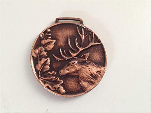 GTK - Geweihe & Trophäen KRUMHOLZ Medaille Hirsch Rothirsch Auszeichnung Prämierung bronzefarben