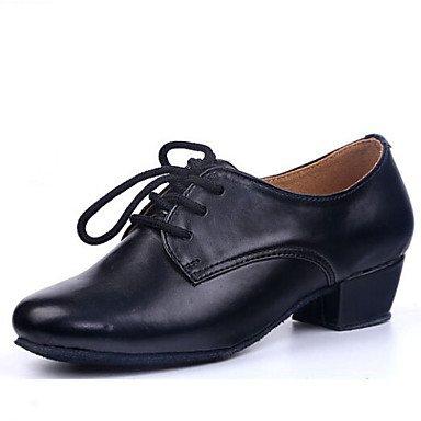 Scarpe da ballo - Non personalizzabile - Bambino - Latinoamericano - Tacco spesso - Eco-pelle - Nero Black