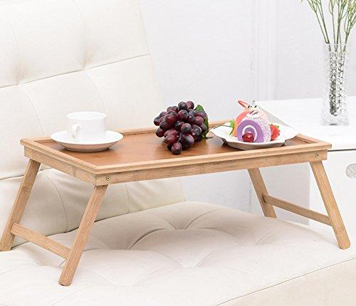 Miyare Bamboo Foldable Esszimmertisch Japanischen Stil, Handarbeit Massive Holz faltbar tragbar Laptop Tische/Couchtisch