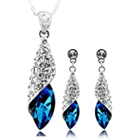 Valentine Gifts for Girlfriend/Wife : YouBella Jewellery Combo of Crystal Stylish Necklace Jewellery Set with Earrings…