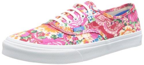 Vans U Authentic Slim Ombre, Baskets mode mixte adulte Blanc - Weiß ((Multi Floral))