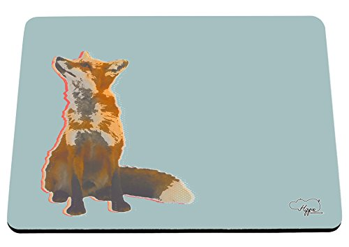 hippowarehouse-gazing-fox-printed-mouse-mat-pad-accessory-black-rubber-base-240mm-x-190mm-x-60mm-blu