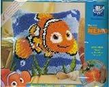 Vervaco PN-0014627 Knüpfkissen Nemo Knüpfpackung zum Selbstknüpfen eines Kissens
