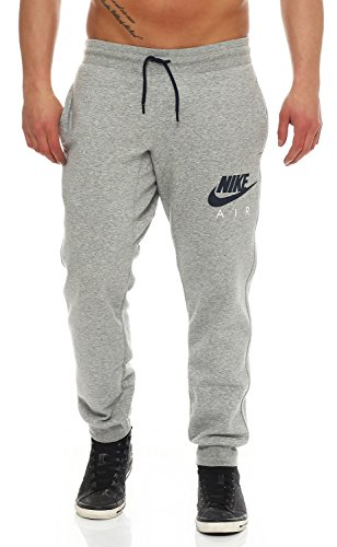Fleece-tasche Trainingshose (Nike Air AW77 Heritage Fleece Cuffed Herren Trainingshose Farbe: Grau; Größe: S)