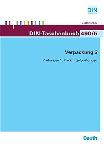 Verpackung 5: Prüfungen 1: Packmittelprüfungen (DIN-Taschenbuch) - Packhilfsmittel