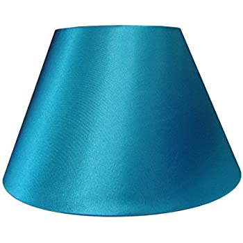 12 faux silk teal lampshade amazon lighting 12 empire shiny satin pendant ceiling table lamp shade teal aloadofball Image collections