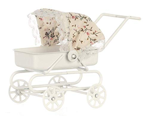 Dollhouse Miniature 1:12 Scale Baby Carriage with Tilt TOP #S8523 by Aztec Imports, Inc. - Tilt Top
