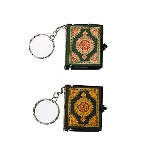 2 Stück Mini Arche Koran Buch echtes Papier lesen arabisch der Koran Schlüsselanhänger Muslim Schmuck Dekoration Geschenk