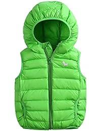 Baijiaye Niños Niñas Invierno Chalecos de Plumón Sin Mangas Chaquetas Bebé Infantil Abajo Algodón Vest Abrigo
