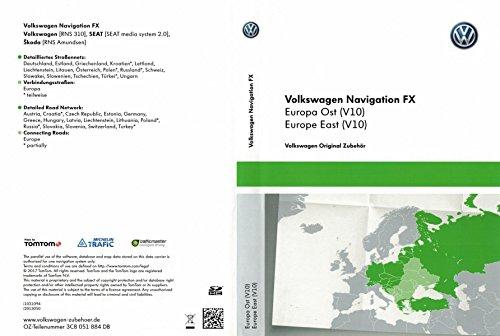 VW SD-Karte Osteuropa FX für RNS 310, Version V10-3C8051884DB